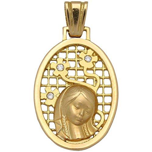 Medalla en Oro 18 KL. Virgen Niña 17 x 27 Mm. una Joya Preciosa con la Que Hacer un Regalo a una niña el día de su Primera comunión, será un Bello Recuerdo