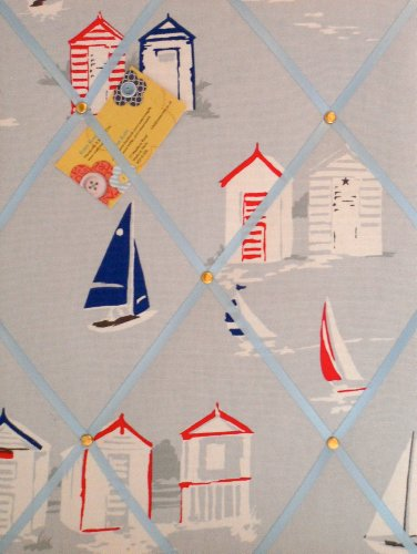 Clarke &Clarke de taille moyenne fait main en tissu Motif cabines de plage avis broches/tableau mémo
