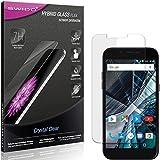 SWIDO Panzerglas Schutzfolie kompatibel mit Archos 50 Graphite Bildschirmschutz-Folie & Glas = biegsames HYBRIDGLAS, splitterfrei, Anti-Fingerprint KLAR - HD-Clear