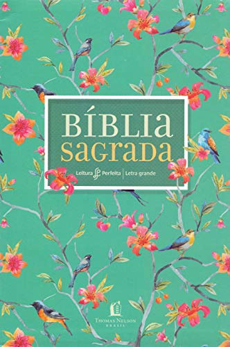 Bíblia NVI, Couro Soft, Flores, Letra Grande, Leitura Perfeita