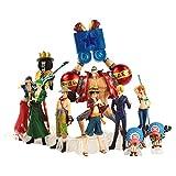 JHU Figuras de Acción de 10 Piezas/Lote, One Piece Luffy Zoro Sanji Usopp Brook Franky Nami Robin Chopper Modelo Colección Regalo