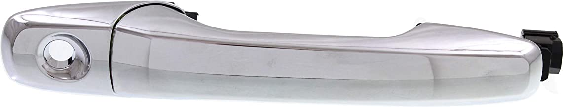Exterior Front Door Handle Compatible with FORD EDGE 2011-2014/EXPLORER 2011-2015 LH All Chrome with Keyhole Plastic
