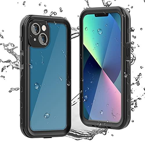 AICase für iPhone 13 Wasserdicht Hülle,360 Grad Rundum Schutz mit Eingebautem Displayschutz IP68 Zertifiziert voll versiegelt wasserfeste handyhülle Outdoor Case für iPhone 13 6.1 Zoll