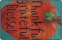 感謝祭のカボチャ感謝祭感謝の祝福されたスーパーソフト屋内モダンエリアラグふわふわラグダイニングルームホームベッドルームカーペットフロアマットベビーキッズ犬猫80x58インチ-80x58インチ