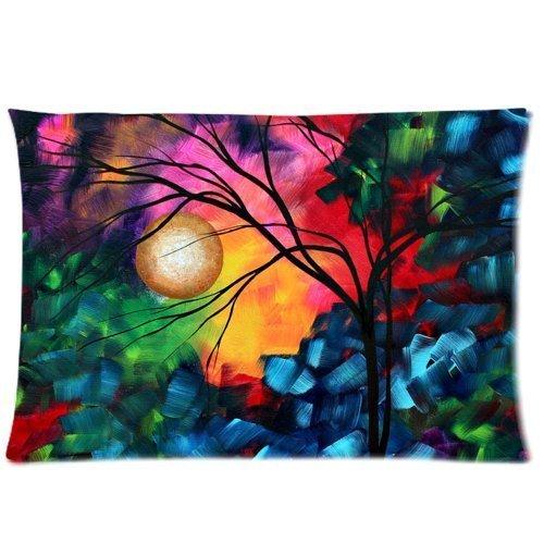 Arbre abstrait art deux côtés Rectangle Taie d'oreiller Taie d'oreiller zippée 50,8 x 76,2 cm