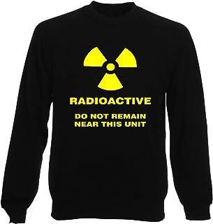 5a344f92 T-Shirtshock Sweatshirt Ras du Cou por Homme Noir T0134 Radioactive Fun  Cool Geek