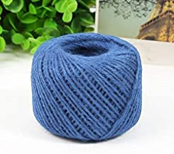 TMYQM DIY 1 Ply Natural Sisal Twine 2mm Rustic Wedding Decoration 50 Meters Jute Twine Thin Twisted Jute Rope String Cord (Color : 7)