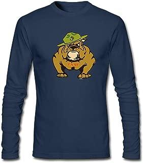 TransaJuedi Marine Corps Bulldog USMC Logo Men's Long Sleeve T-Shirt Retro Cotton Long Sleeve T-Shirt
