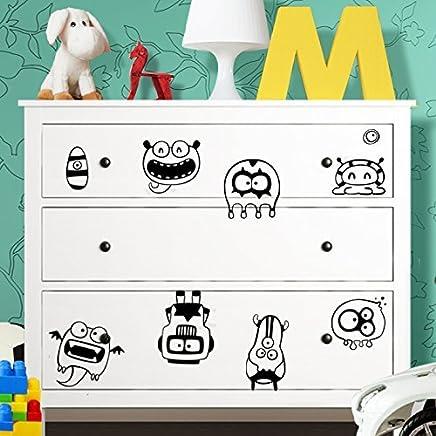 Ikea Hemnes Cassettiera Rossa.Amazon It Grandora Adesivi Per Mobili Sticker Decorativi Casa