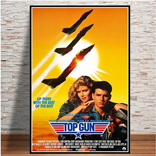 meilishop Top Gun Film 2020 Tom Cruise Film Bande Dessinée Affiches Et Impressions Peintures pour Salon Mur Décoration De La Maison Impression De Mode Affiche A611 (40X60Cm) sans Cadre