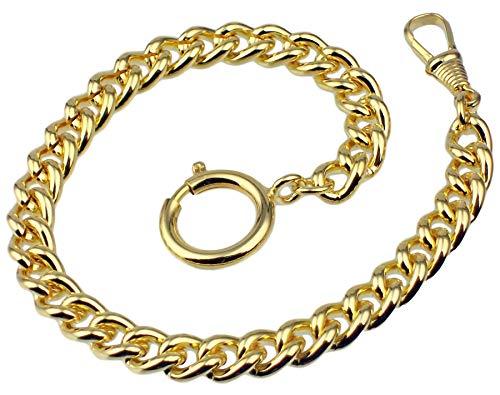 Taschenuhrkette Vergoldet Panzer Uhrkette 25cm Taschenuhr Uhr Kette 3010.2880