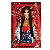 JheneAikoポップミュージック歌手ポスタープリントアートワークギフトウォールアートポスターキャンバス絵画ホームリビングルームの装飾ギフト寝室の装飾-50x75CMフレームなし