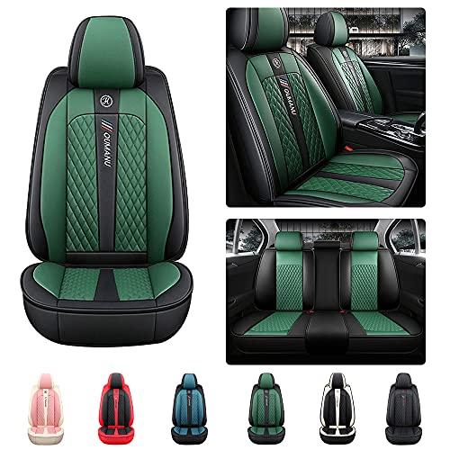 Maiqiken Juego de 5 fundas de asiento estándar para Ford Focus RS/ST (piel sintética, antideslizante), color negro y verde