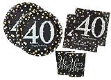 Irpot Kit A Addobbi Compleanno Scintillante Happy Birthday Sparkling Celebration (40 Anni)