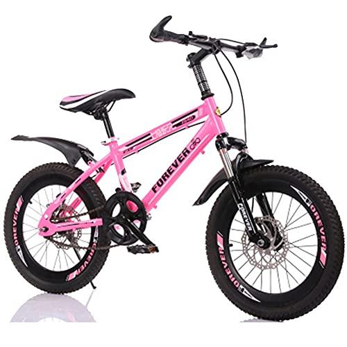 Axdwfd Infantiles Bicicletas Bicicletas al Aire Libre para niños, 18 Pulgadas, 20 Pulgadas, niños Chicas Bicicleta Bicicleta Alto Marco de Carbono, Durante 7-14 años, 3 Colores