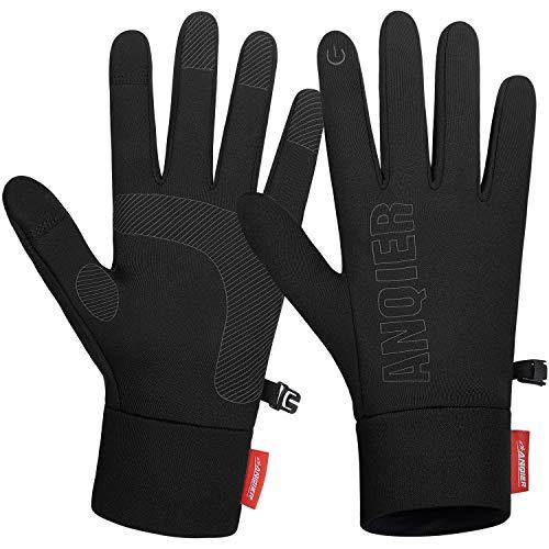 coskefy Rękawiczki męskie, damskie, do obsługi ekranów dotykowych, lekkie antypoślizgowe rękawiczki rowerowe, elastyczne, zimowe rękawiczki na kemping, wędrówki, wspinaczka górska, jazda na rowerze, bieganie