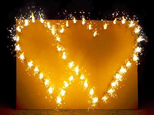 Krause & Sohn Brennende Herzen, fertig montiert, Hochzeit Feuerwerk, Lichterbild