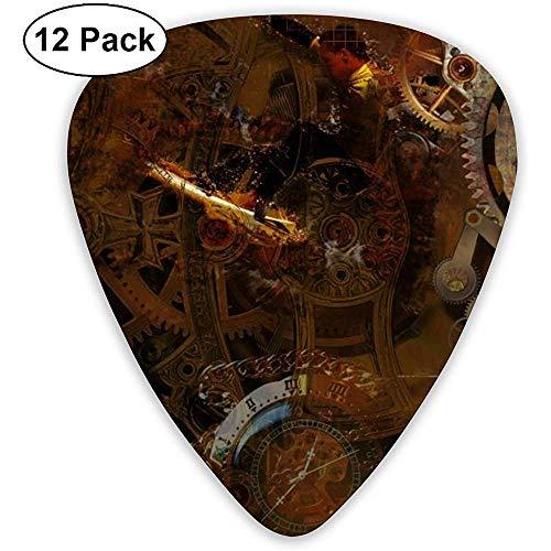 Accessoires voor gitaar, pickset, gitaar, bas, mandoline, ukelele 0,46 mm, 0,71 mm, 0,96 mm, 12 pak gitaarpicks plectrums met pickhouder