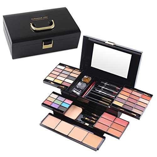 All In One Makeup Kit, Multi-Purpose Makeup Gift Set 49 Colors Combination Palette Full Makeup Essential Starter Kit for Beginners or Pros, Included eyeshadow, Lip Gloss, Blusher, Eyeliner, Mascara