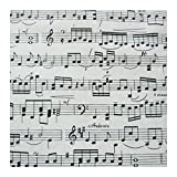 ATEYC Textile Gewebe, Musik Gewebe Baumwolle Musical Note