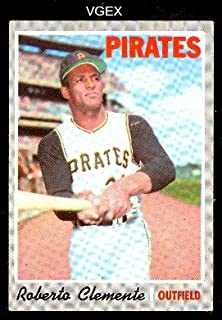 1970 Topps Regular (Baseball) Card# 350 Roberto Clemente of the Pittsburgh Pirates VGX Condition
