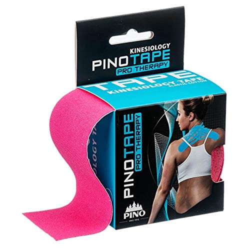 Preisvergleich Produktbild Pinotape Pro Therapy ® - Das Original - Kinesiologie Baumwolle Tape verschiedene Farben und Designs 5 cm x 5 m,  besonders hautfreundlich - Physio-Tape (Pink)