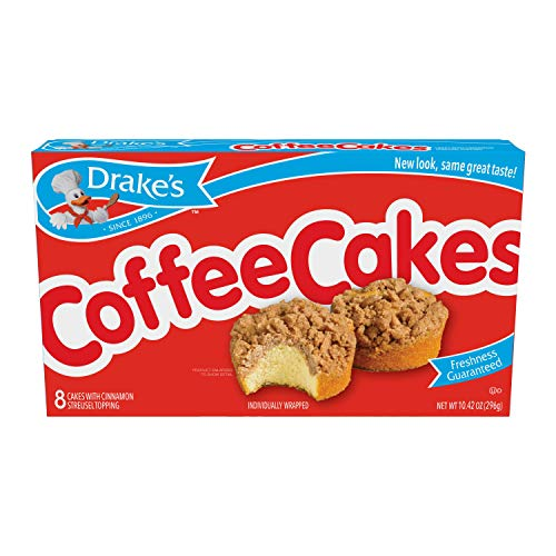 Drakes Coffee Cakes, 8 Individually Wrapped Breakfast Pastries (Pack of 1)