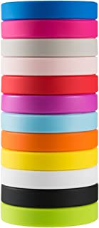 Green House Solid Color Silicone Wristbands, Rubber Bracelets 5pcs to 12pcs