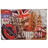 Desconocido Unbekannt von London. Blech/Dekorplatte Vintage