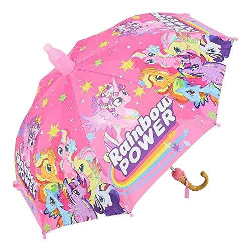 Burhetten Zweiteiliger Kinder-Anzug, Cartoon-Sicherheits-Regenschirm, Anti-Zwicken, automatisch, superleicht, winddicht, regenfest, Sonnenschutz (Farbe: Stil E)
