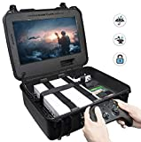 Case Club Waterproof Xbox One X/S Portable Gaming Station with Built-in Monitor & Storage for Controllers & Games, Gen 2
