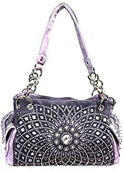 Levander Starburst Concealed With Rhinestone Handbag