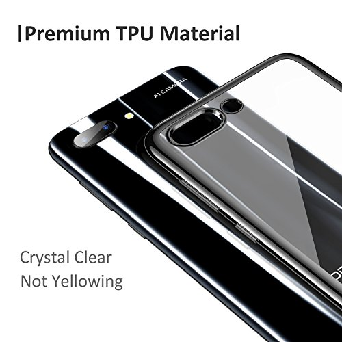RANVOO Kompatibel mit Honor 10 Hülle, Transparent Silikon Handyhülle Durchsichtig Kratzfest Schutzhülle Slim Flexible TPU Chrome Bumper Cover Crystal Clear Case, 5.84'' (Schwarz) - 2