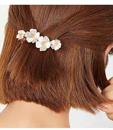 ONNFMHバレッタ花髪留めヘアクリップ夏髪飾り(灰色)