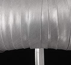 metallic silver bias tape