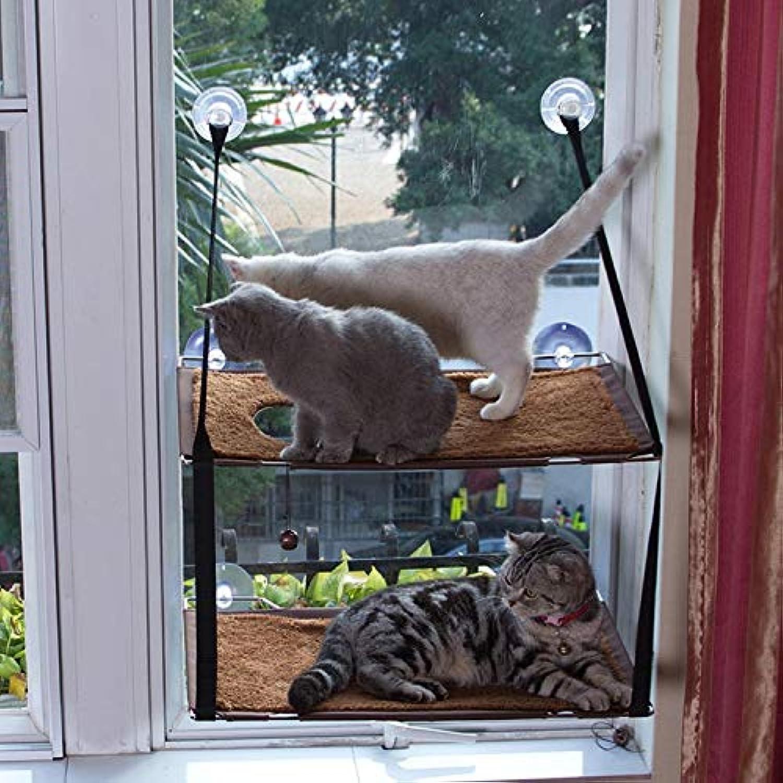 JLFAIRY 60  34Cm (Bearing Weight 20 Kg) Cat Hammock Cat Litter Save Space Window Sill Sun Sun Handmade Pet Supplies Cat Hammock