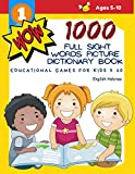 1000 Full Sight Words Picture Dictionary Book English Hebrew Educational Games for Kids 5 10: First Sight word flash cards learning activities to ... your child to read short sentences strips