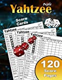 Triple Yahtzee Score Cards: Large Print Size 8.5 X 11' 120 Yahtzee Sheets Premium Quality | Games For Adults | Score Book | Large Paper For Dice Games ... Scorekeeping | Yahtzee Score Sheets Triple
