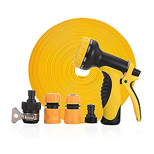 Ampliable manguera de jardín Flexible anti-fuga de agua de la manguera tubo con 10 aerosol de función for la yarda de las plantas de riego de coches Lavado almacenamiento fácil fácil almacenamiento