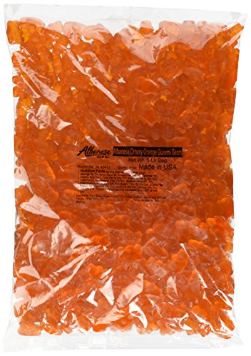 Albanese Ornery Orange Gummi Bears, 5-Pound Bags