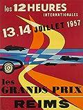 Reims Grand Prix 1957 Poster, Reproduktion/Format 50 x 70