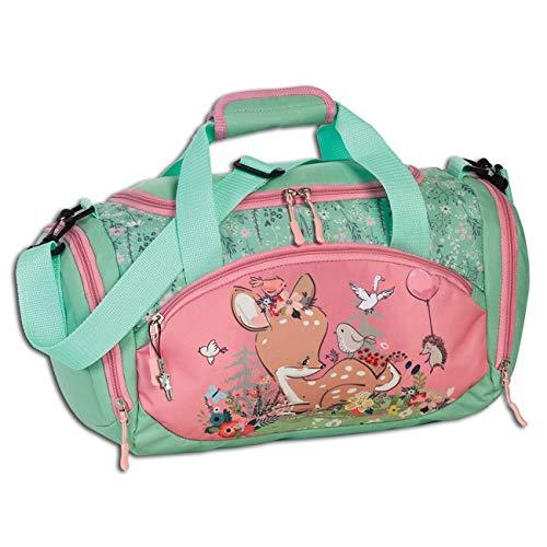 Fabrizio Reisetasche Kinder REH Blumen rosa pastellgrün Sporttasche OTI206L Polyester Sporttasche