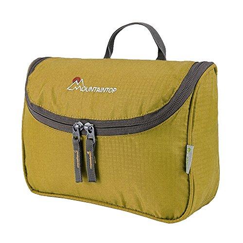 Mountain Top borsa da viaggio cultura borsa cosmetici borsa hängend deposito Organizer multi portatile da toilette per le donne uomini impermeabile lavabile colori, giallo