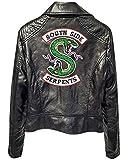 Yesgirl Riverdale Southside Serpents - Chaqueta de piel para mujer y niña, corte ajustado, sudadera, camiseta de manga larga negro A M