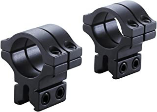 BKL 30mm Rings, 3/8 or 11mm Dovetail, Double Strap, Matte Black