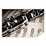 Postereck - 0099 - Klarinette, Notenblatt Musik Instrument