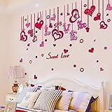 墙贴纸 情侣 贴画 爱情 爱心 卧室 房间 天花板 沙发 背景 墙壁 装饰 挂饰 吊坠