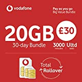 Vodafone Auricular PAYG estándar Tri SIM (Paquete de £30 BVB)