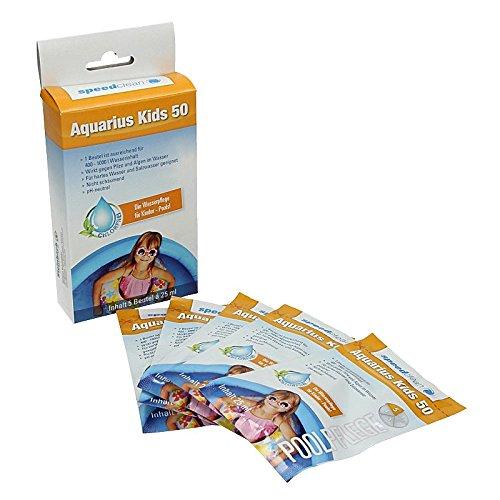 Aquarius Kids 50 5x 25 ml Beutel Wasserpflege für Kinderpools bis 600 L Pool Reinigung Reinigungsmittel chlorfrei