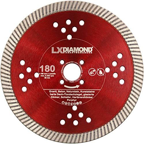 LXDIAMOND Disco de corte de diamante de 180 mm adecuado para fresadora de ventana Lamello Tanga Delta S2, para hormigón, granito, mampostería, etc. Fresa de montaje de 180 mm